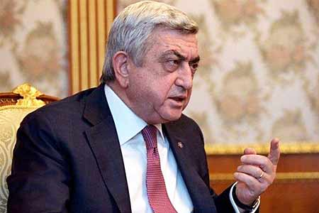 Serzh Sargsyan dispels myths about insufficient equipment of Armenian  army