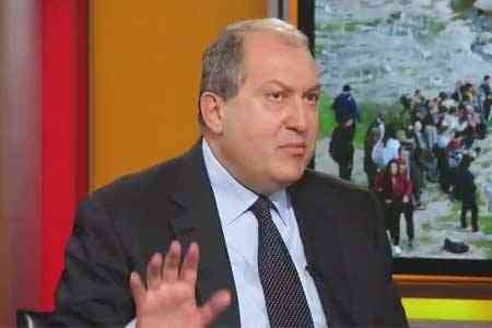 Armen Sarkissian: Ankara`s actions in the Caucasus could also pose a  threat to the EU