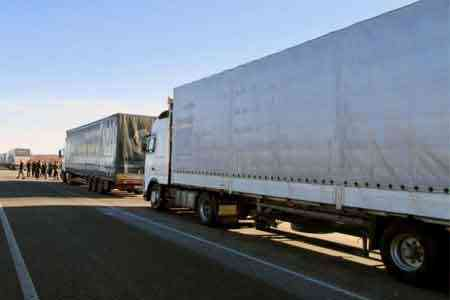 Second convoy of Russian Emergencies Ministry with humanitarian aid  arrived in Stepanakert