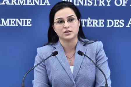 Anna Naghdalyan: Turkey once again resorts to the policy of blatantly  misleading the international community with fake and provocative  allegations