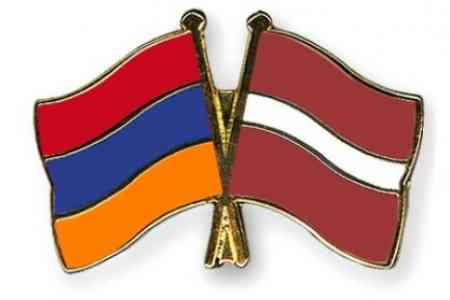 Armenian President had a telephone conversation with his Latvian  counterpart