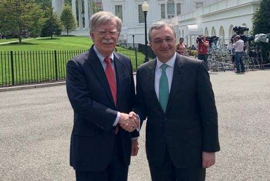 Armenian Foreign Minister met with National Security Adviser to US   President