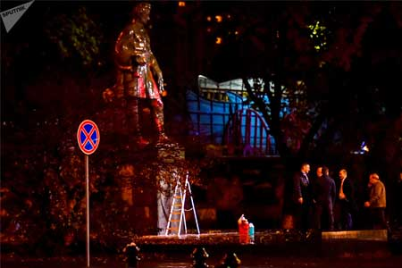 The desecration of the monument to Griboedov in Yerevan: A worthy  answer for Nzhdeh or the voiced slap in the face of the Armenian  people?