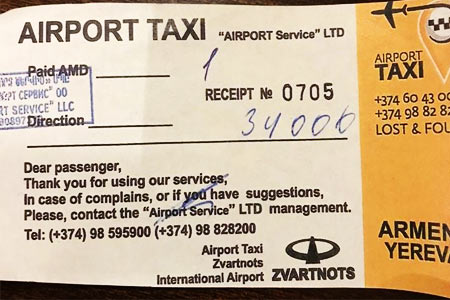 Zvartnots airport makes excuses about unscrupulous taxi drivers
