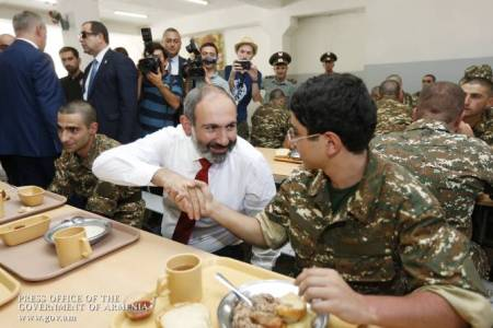 Armenia`s Prime Minister visited the Nth military unit of the RA  Defense Ministry