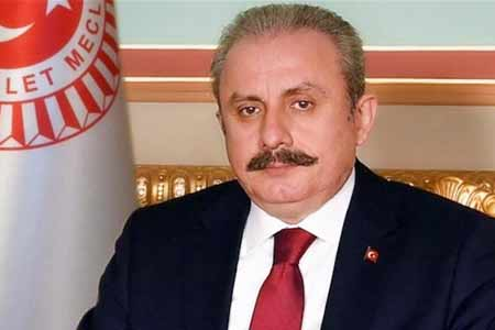 Speaker of Turkish Parliament arrives in Baku after Foreign Minister