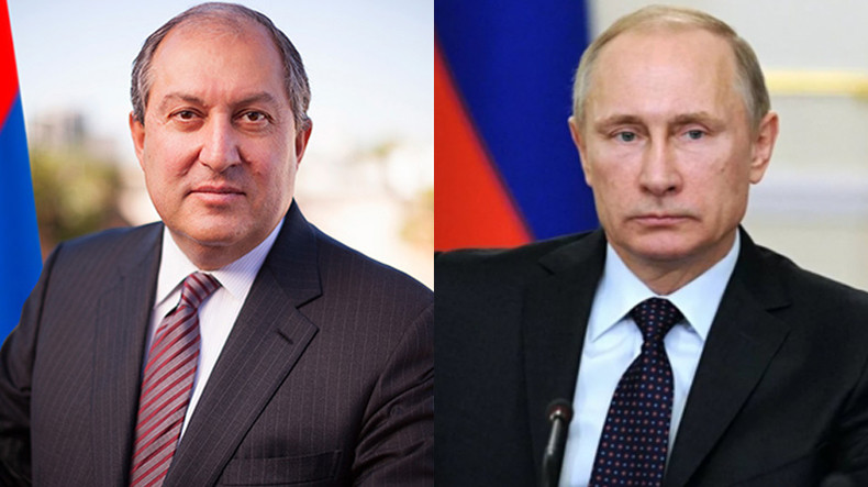 Armen Sarkissian appealed to Putin on issue of returning of POW and  hostages who are in Azerbaijani captivity