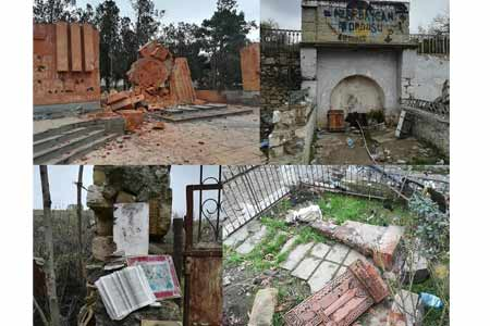 Naira Zohrabyan published photos of architectural monuments  desecrated and destroyed by Azerbaijanis in Talish village